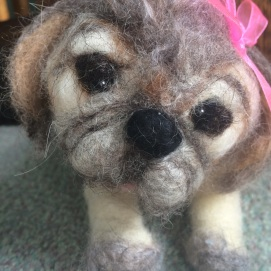 Felted Dog, sold to happy client