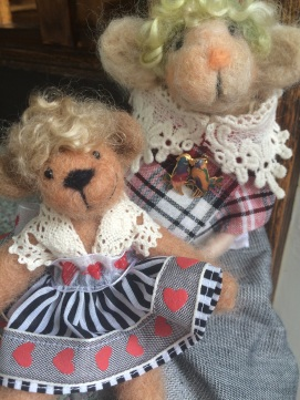 Welsh Lady and Teddy Friend