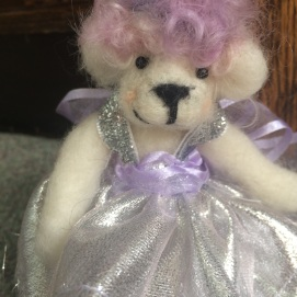 Commission Teddy in Silver Lamé